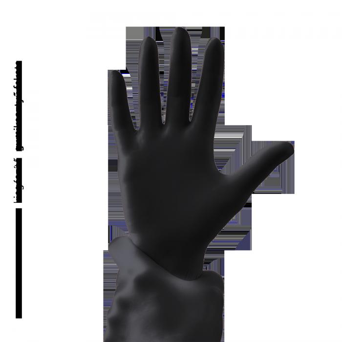 Gumene rukavice - crna